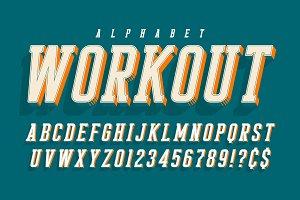 Cool vector 3d design of alphabet