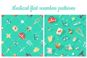 Medical flat seamless pattern