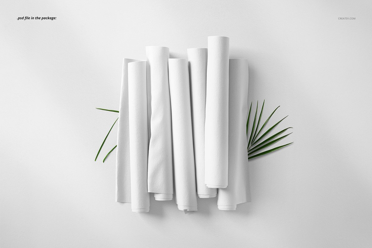 Fabric Rolls Mockup 71/FF v.6 in Product Mockups - product preview 2