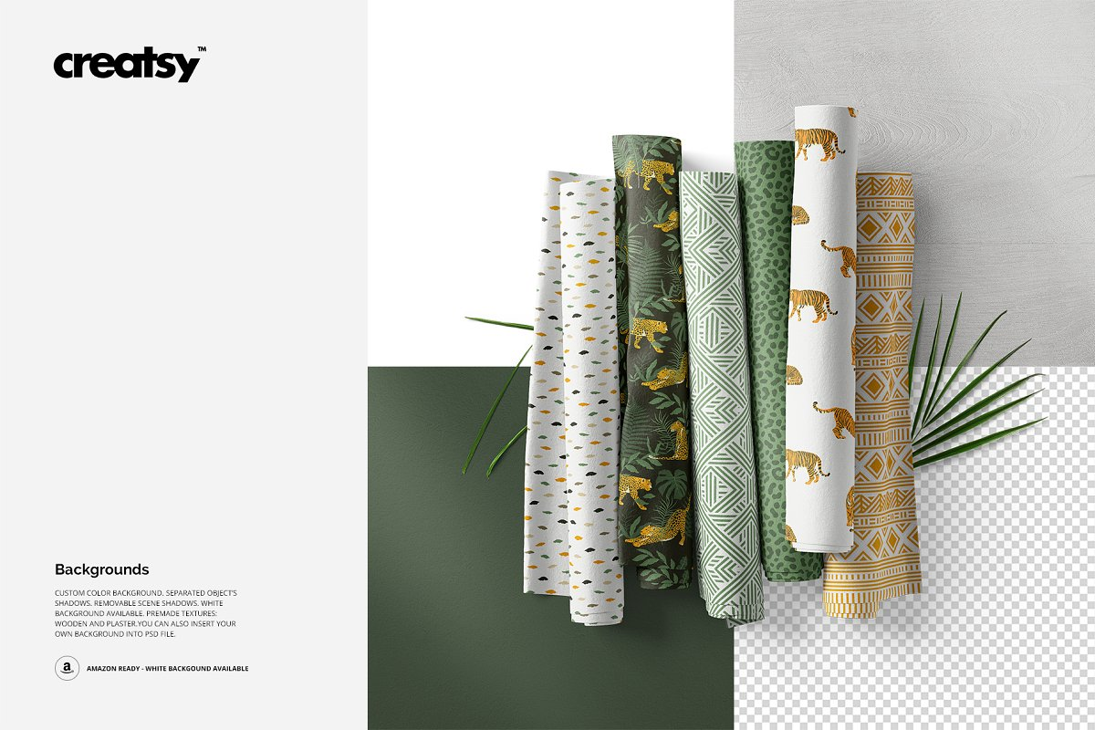 Fabric Rolls Mockup 71/FF v.6 in Product Mockups - product preview 3