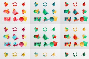 81 colorful geometric banners