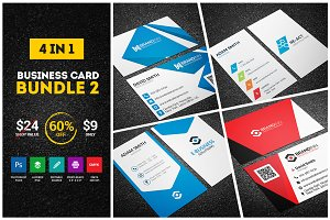 4 Business Cards - Bundle 2