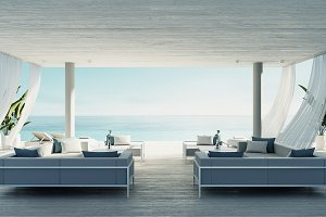 Beach living lounge - ocean villa se