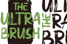 The Ultra Brush by  in Display Fonts