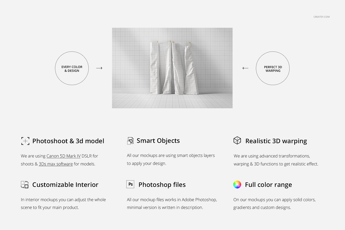 Fabric Rolls Mockup 70/FF v.6 in Product Mockups - product preview 1