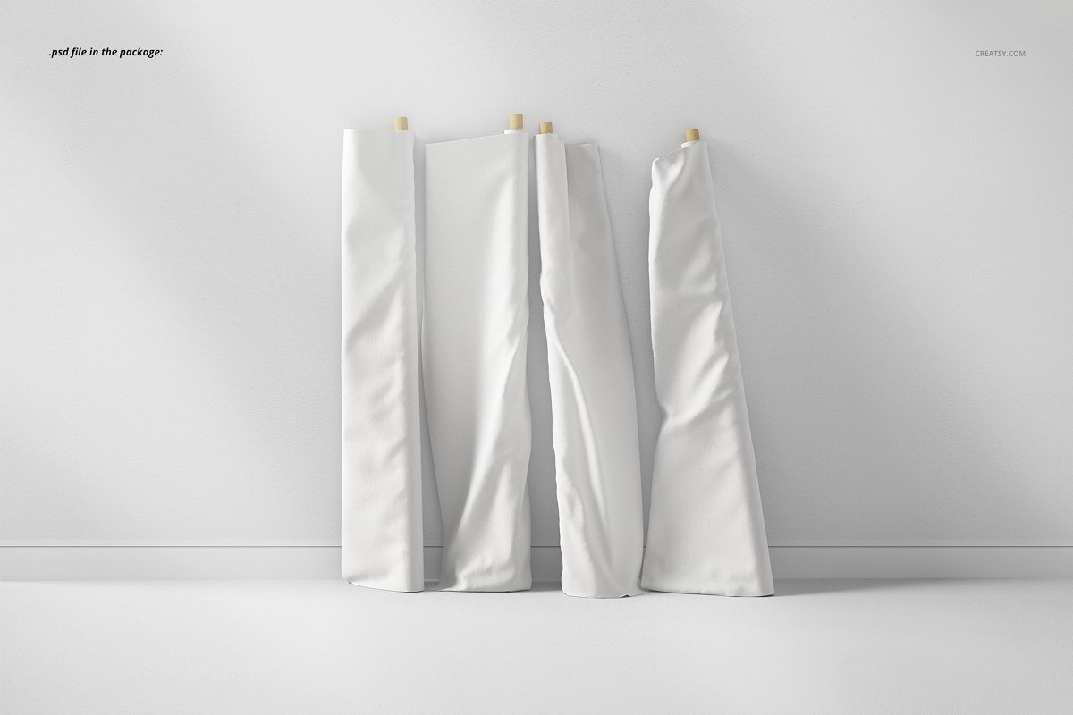 Fabric Rolls Mockup 70/FF v.6 in Product Mockups - product preview 2