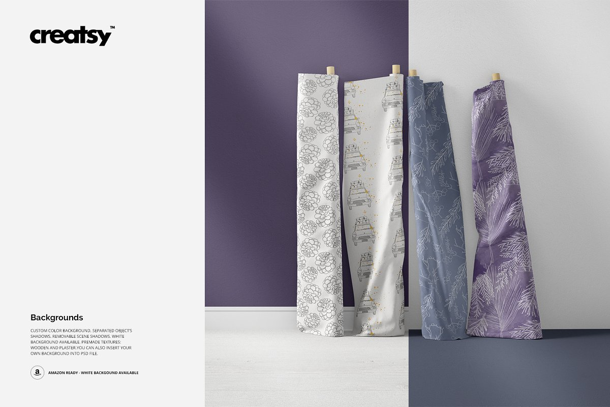 Fabric Rolls Mockup 70/FF v.6 in Product Mockups - product preview 3