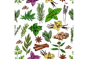 Spices, herbs and seasoning pattern