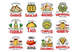 Mexican fast food icons