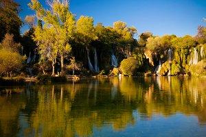Morning view to Kravica waterfall ne