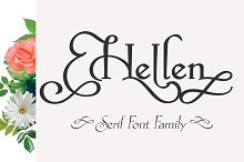 Hellen - Serif Font by  in Serif Fonts