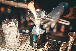 Milk shake.Cocktail Preparation.