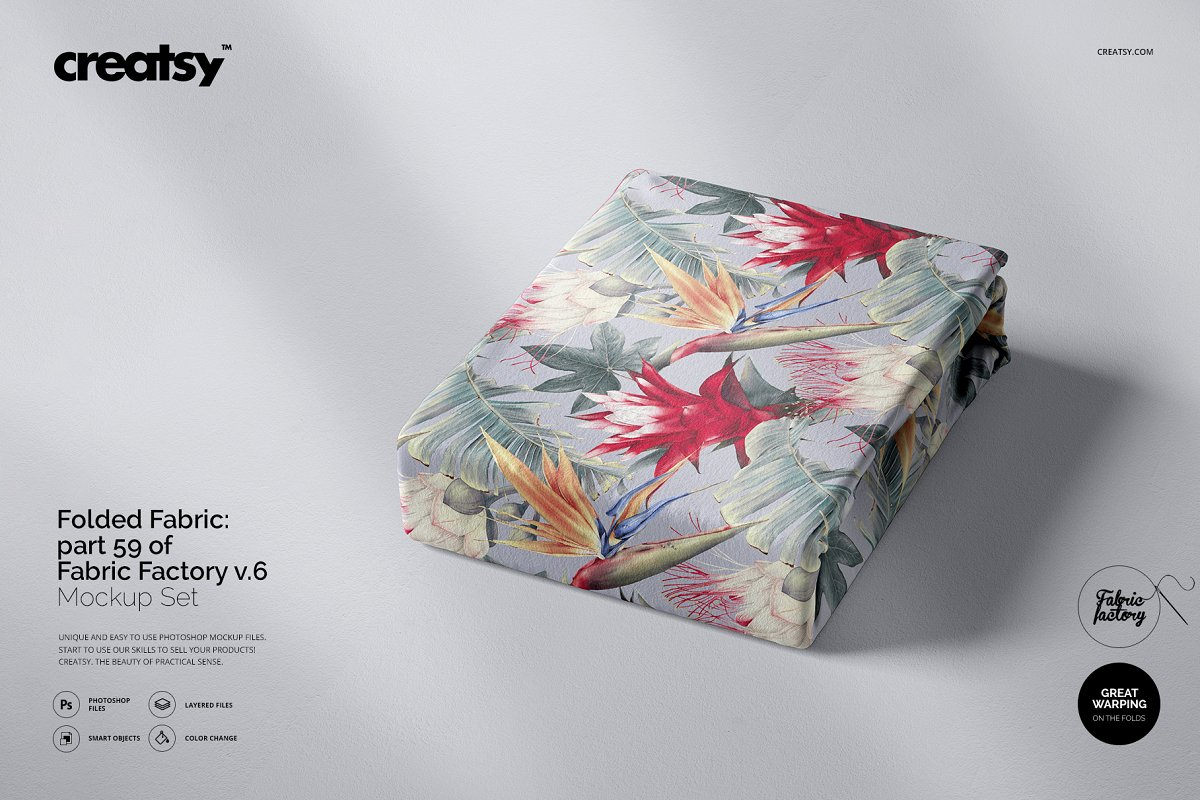 Folded Fabric Mockup 59/FF v.6