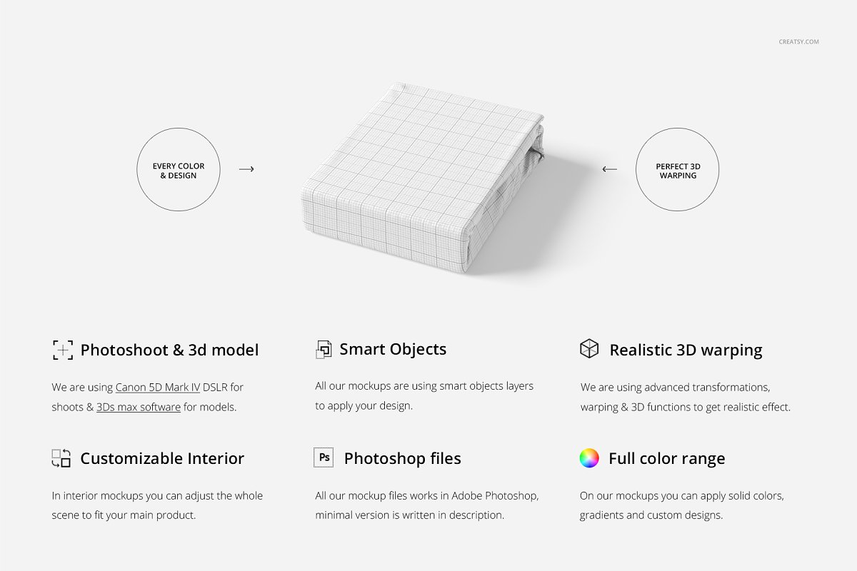 Folded Fabric Mockup 59/FF v.6 in Product Mockups - product preview 1