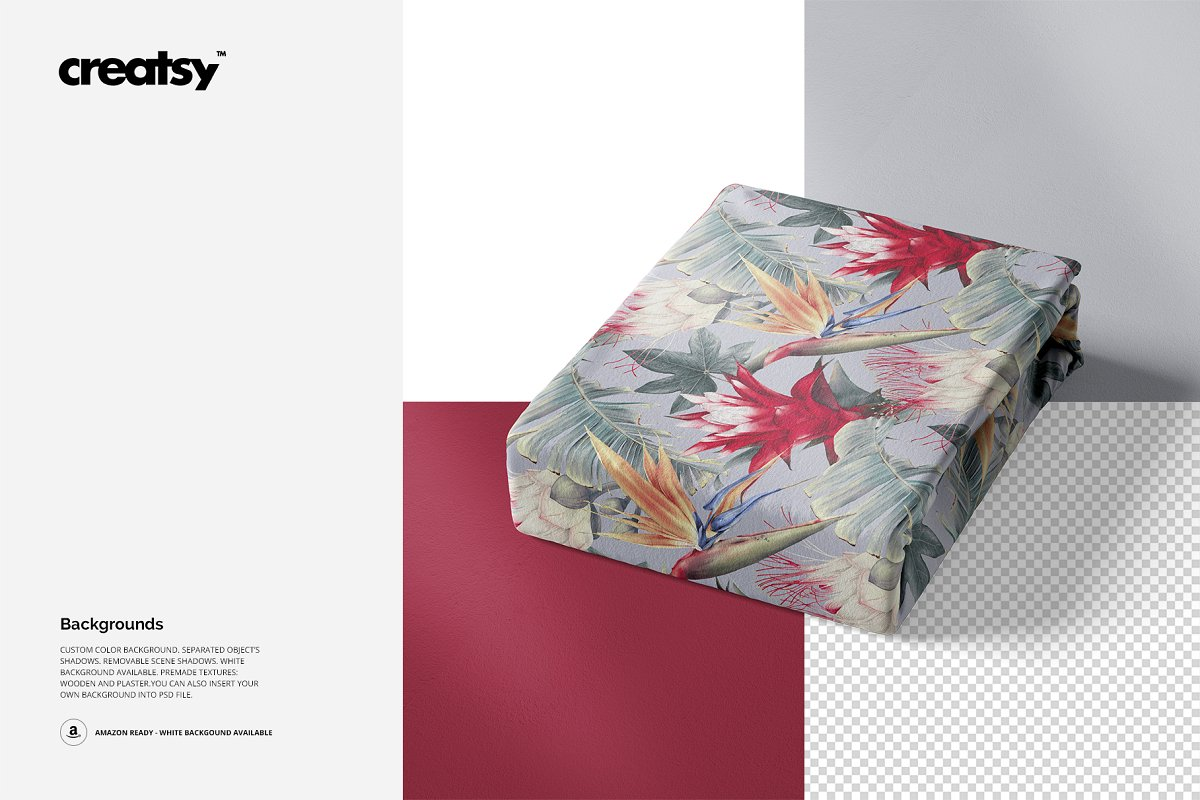 Folded Fabric Mockup 59/FF v.6 in Product Mockups - product preview 3