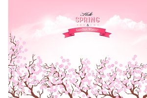 Beautiful spring nature background
