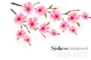 Spring nature background. Vector