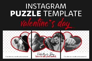 Instagram Puzzle Template Valentine