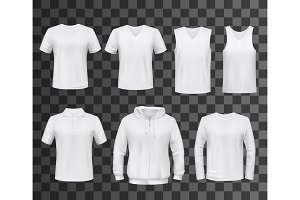 T-shirt, shirt and hoodie mockup