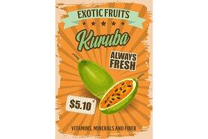 Kuruba or curuba exotic fruit