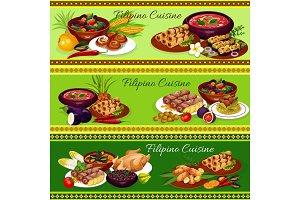 Filipino cuisine dishes, veggies