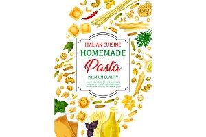 Pasta, spaghetti and macaroni