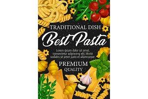 Spaghetti and fusilli with spices