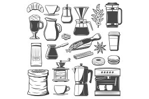 Coffee cup, equipment, accessories