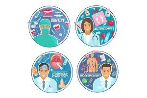 Doctors and medical tools