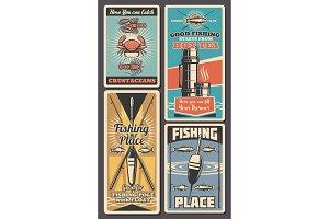 Fishing rod, fish. Fisherman shop