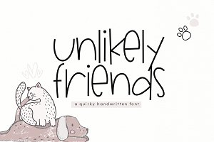 Unlikely Friends - A Quirky Font