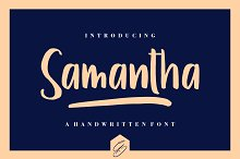 Samantha by  in Display Fonts