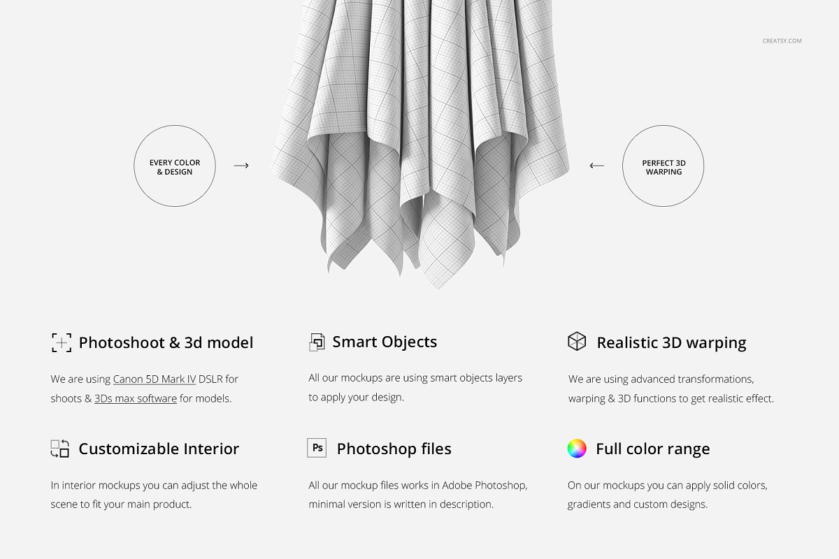 Hanging Fabrics Mockup 61/FF v.6 in Product Mockups - product preview 1