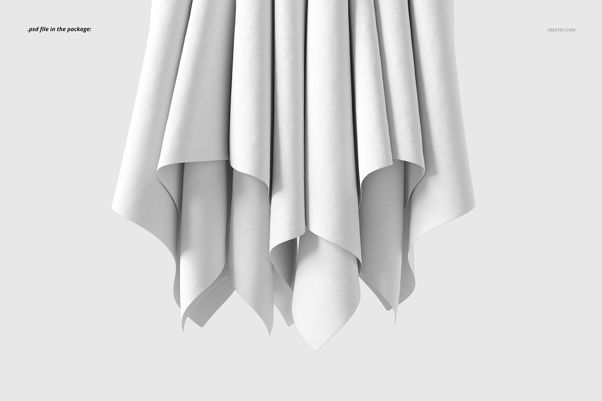 Hanging Fabrics Mockup 61/FF v.6 in Product Mockups - product preview 2