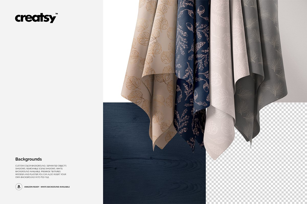 Hanging Fabrics Mockup 61/FF v.6 in Product Mockups - product preview 3