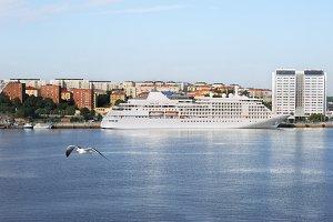 Cruise liner. Stockholm, Sweden