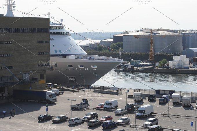 Commercial port. Stockholm, Sweden - Business