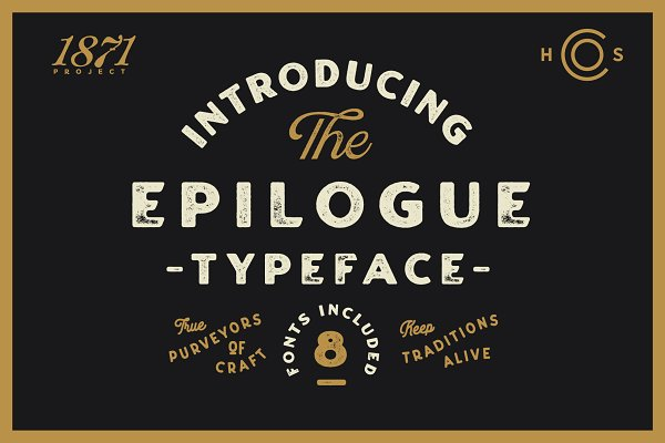 Epilogue - A Vintage Typeface