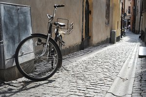 Bicycle on the old Stockholm street