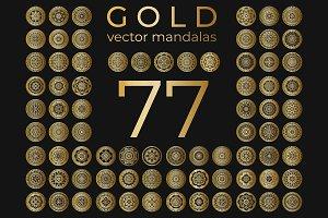 77 Gold Vector Mandalas
