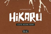 Hikaru Asian Font by  in Display Fonts
