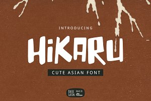 Hikaru Asian Font (50% OFF January)