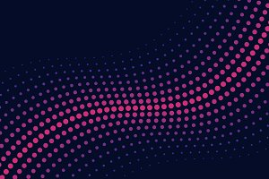 Pink wave halftone background vector