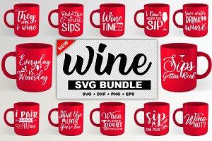 Wine SVG and Tshirt design Bundle
