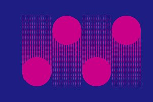 Pink dots halftone background vector