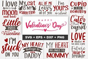 Valentine SVG Tshirt Design Bundle