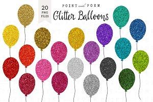 Glitter Balloon Clipart