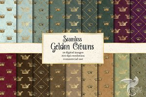 Golden Crowns Digital Paper