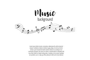 Musical Signs. Modern Background