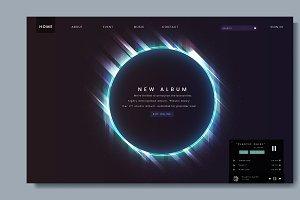 Website design for a new music album